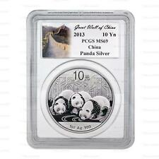 New 2013 Chinese Silver Panda 1oz PCGS MS69 Graded Slab Coin