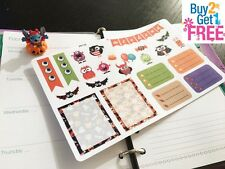 PP118 -- Cute Halloween Weekend Life Planner Stickers for Erin Condren (22pcs)