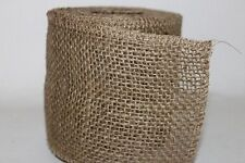 Natural Jute Hessian Burlap rustic ribbon.Vintage wedding, 10cm.   Full 10m Roll