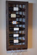 6 bottle Barn wood with Tin backing wine rack