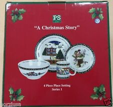 "Portmeirion Studio ""A Christmas Story"" EMPTY Box 4 Place Setting-excellent cond."