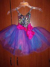 Weissman Dance Costume Leotard & Tutu Skirt One Piece Sz LC Large Child