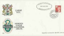 29.4.95 RUGBY COMM COVER CELEBRATING CARDIFF RFC WINNING HEINEKEN WELSH LEAGUE