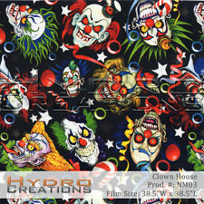 HYDROGRAPHIC FILM FOR HYDRO DIPPING WATER TRANSFER FILM CLOWN HOUSE