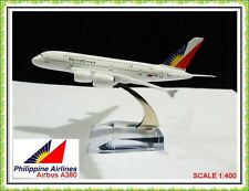 AIRBUS A380 PHILIPPINES AIRLINE AEROPLANE METAL PLANE MODEL DIECAST GIFT TOY UK
