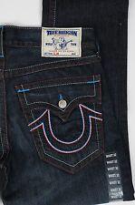 NEW Men's True Religion Jeans Slim Leg USA Chain Size 34  Red White Blue