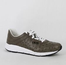 New Gucci Men's Brown Ostrich Lace-up Sneakers Gucci 9.5G/US 10, 357174 2818