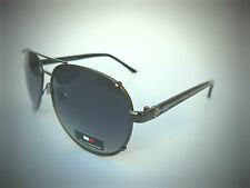 NEW TOMMY HILFIGER TH BRADSHAW silver aviator sunglasses