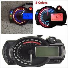 Motorcycle LCD Digital Speedometer Tachometer Odometer Gauge 15000rpm For Harley