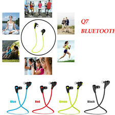Wireless Bluetooth Headphones w/ Microphone Ear buds for iPhone Android HTC Q7