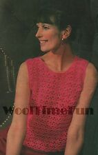 Crochet Pattern Ladies Sleeveless Vest Top. 4ply Easy & Quick to Make.