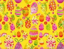 PAINTED EASTER EGGS GIFT WRAPPING PAPER - 25 Ft Roll