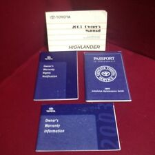 2003 Toyota Highlander OEM Owners Manual set with warranty & maintenance guide