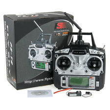 Flysky FS-T6-RB6 FS 2.4GHz RC Hélicoptère Transmitter 6CH 6 Channel Radio Mode 2