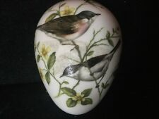 Coalport British Bird Series Porcelain Egg Decorated With Two Whitethroats
