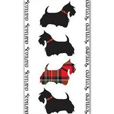 "SCOTTISH TEA TOWEL ""SCOTTY DOGS"" 100% COTTON DISPATCHED DAILY"