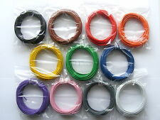 110m 16/0.2mm Equipment Wire Pack - 20 AWG* - 11 Colours - Stranded - 3A 1kV rms