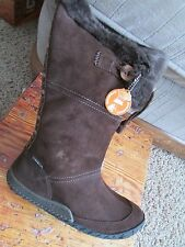 NEW CUSHE CABIN FEVER WATERPROOF WINTER BOOTS WOMENS 11 BROWN SUEDE  HIGH BOOTS