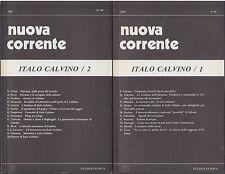 Italo Calvino 2 numeri monografici rivista nuova corrente 1987 Celati Guglielmi