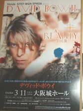 DAVID BOWIE Reality 2004  2-sided Japanese Flyer / mini Poster 10x7 inches