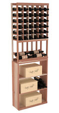 Wooden Side Display Combo Wine Cellar Rack Kit in Redwood. Handmade in the USA.