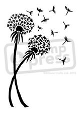 A7 'Dandelions In The Wind' Unmounted Rubber Stamp (SP005039)