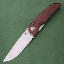 Sanrenmu LAND Liner Lock 8Cr13mov Blade Wood Handle Camping Hunt Knife PR5-905