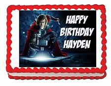 Thor edible party decoration cake topper decoration frosting sheet