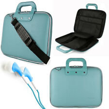 "Blue Cady Laptop Bag Carrying Case for Apple MacBook Pro Air 13 13.3"" +Earphone"