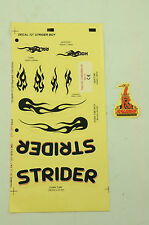 RALEIGH STRIDER KIDS BIKE DECAL TRANSFER SET,STICKER PACK  WTFRSTRD