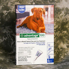 Advantage 100 Blue (4PACK) for Extra Large Dogs 55 lbs and up ~FREE SHIPPING~