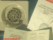 "FRANCE 2013 2 EUROS COMMEMORATIVE BE/PP/PROOF "" TRAITE DE L'ELYSEE "" SUPERBE"