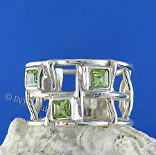 Ring 925 Sterling Silber - Silberring mit Peridot - Damenring Fingerring In33-15