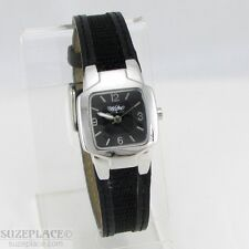 MOSSIMO LADIES WATCH BLACK BAND SILVER TONE CASE SQUARE DIAL NEW BATTERY