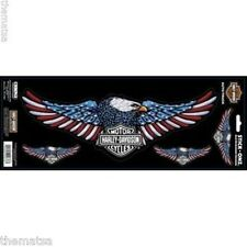 HARLEY DAVIDSON RED WHITE AND BLUE EAGLE STCK ONZ STICKER DECAL