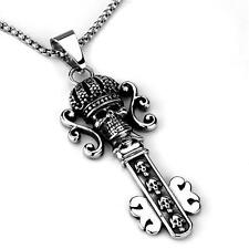 Skull Key Chain Stainless Steel 20 Inch Necklace