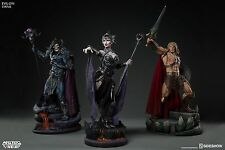 MOTU Masters of the Universe HE-MAN SKELETOR EVIL-LYN SET 3 Sideshow Statue