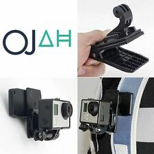 360 Rotating Backpack Hat Quick Release Clip Clamp Mount for GoPro Xiaomi Camera