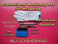 3M Rakel, Folien veklebe Set, Car Wrapping, 30° Grad Cuttermesser aus Japan!