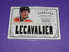 2013-14 National Treasures VINCENT LECAVALIER Jersey SP/99 Philadelphia FLYERS