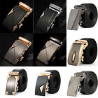 Mens Bussiness Leather Automatic Alloy Buckle Belts Luxury Waist Strap Waistband