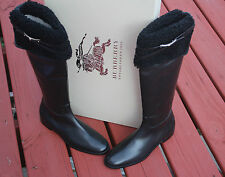 BURBERRY FERRIBY BLACK OVER THE KNEE BOOTS #9us $1295