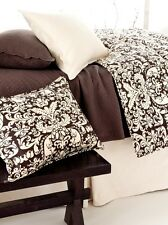 Pine Cone Hill Gianna Chocolate Brown & Ivory Twin Duvet Cover