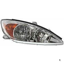 02-04 Toy Camry Right Passenger Side Headlight Assembly w/Chrome Housing