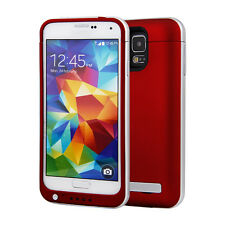 4200mAh External Power Pack Battery Charger Case Cover For Samsung Galaxy S5 Red