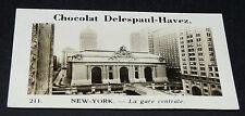 PHOTO CHOCOLAT DELESPAUL-HAVEZ 1950 ETAT UNIS USA NEW-YORK GARE CENTRALE