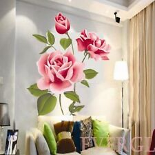 3D Rose Flower Wall Sticker Decals Room Decor Vinyl Mural Removable Art