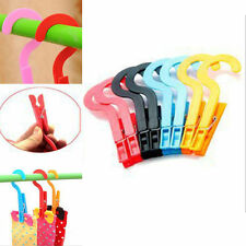 8pc Laundry Travel Clothes Towels Hanger Hook Clips Creative Style Fine SJ6