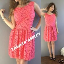 Ladies Clarice Dress Peach Lace By MNG Size L New With Tags MSRP $50.00