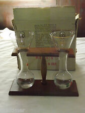 VINTAGE CELLINI MASTERPIECES ITALY  1/4 YARD ALE BEER GLASSES ON WOOD DISPLAY